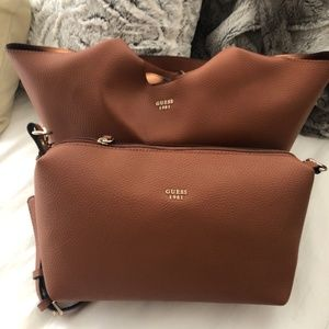 Guess Handbag WITH Convertible Pouch
